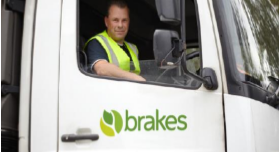 Brakes delivery driver in Brakes lorry