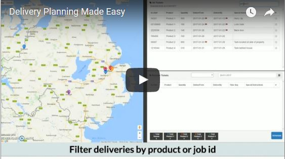 Screenshot of delivery planning video