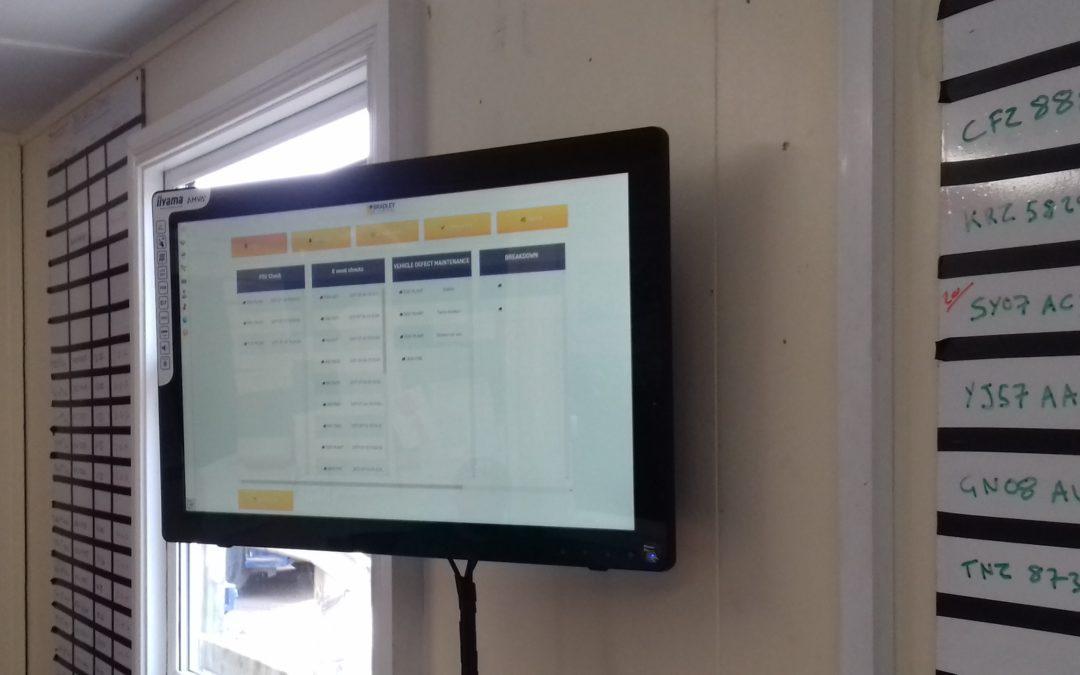 Touch Screen job scheduler