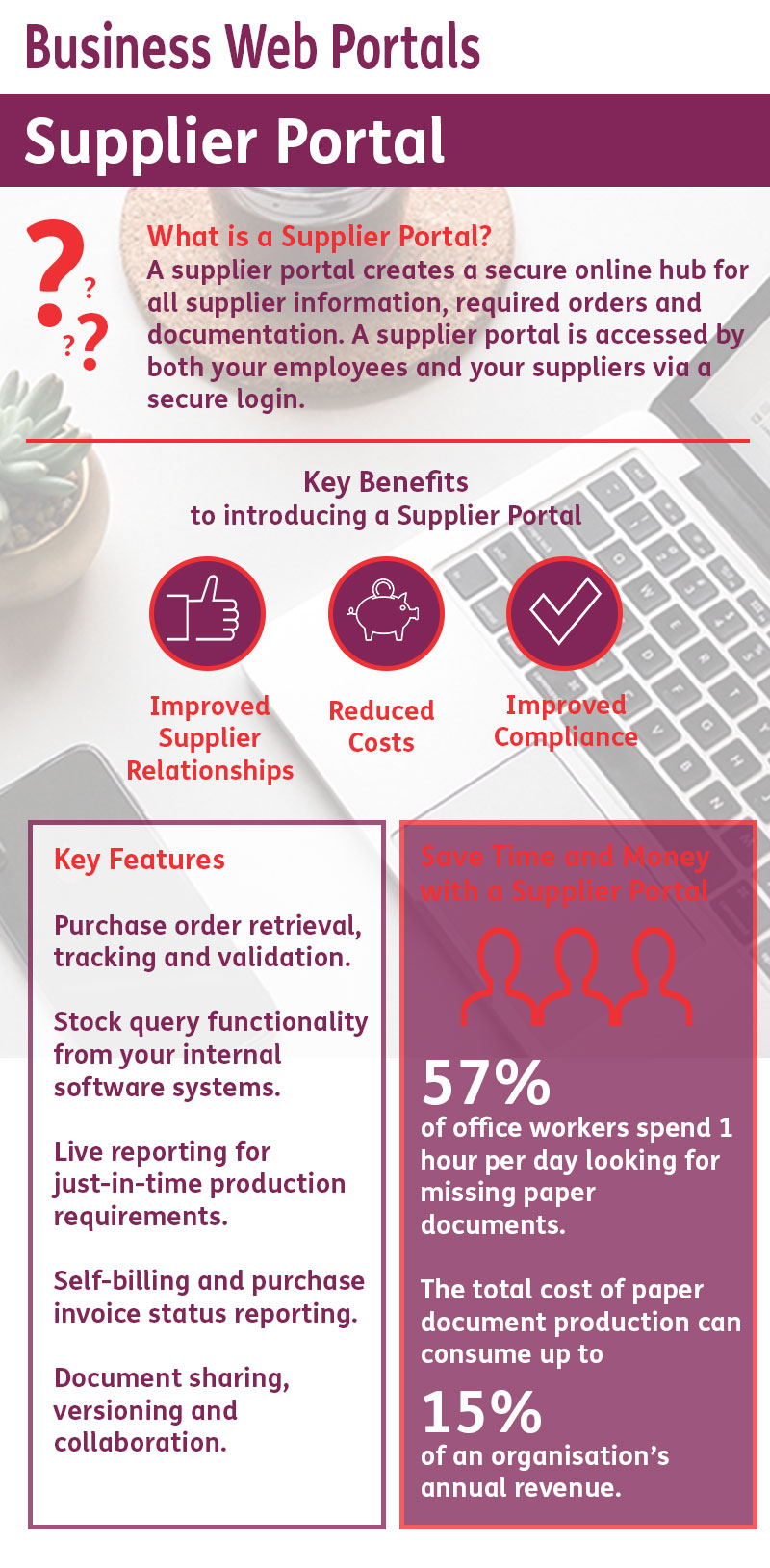 Supplier Portal Infographic