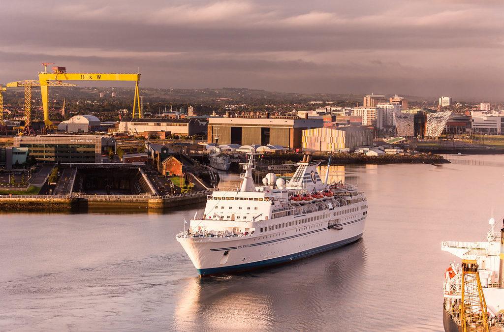 Cruise Ship Belfast, Delphin at Titanic Quarter, Belfast