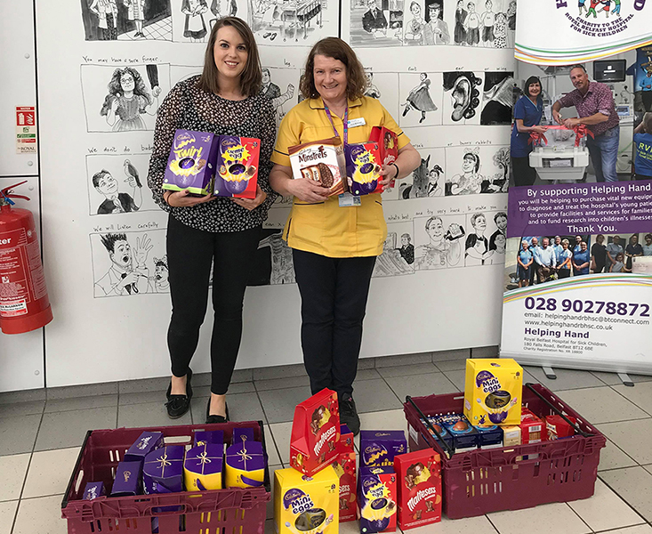 Easter Egg Donation to Helping Hand